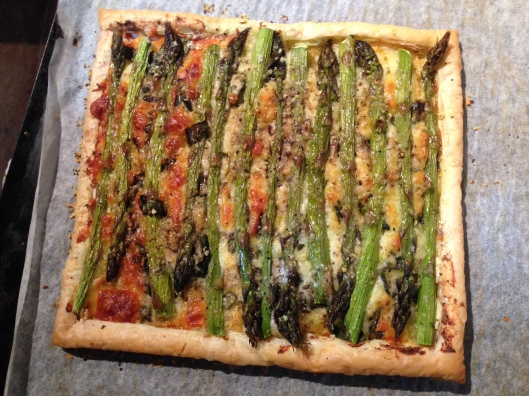 Asparagus 3 Cheese Tart