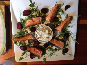 Salmon & beetroot